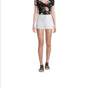 High rise Intensely white stretchy jean shorts NWT